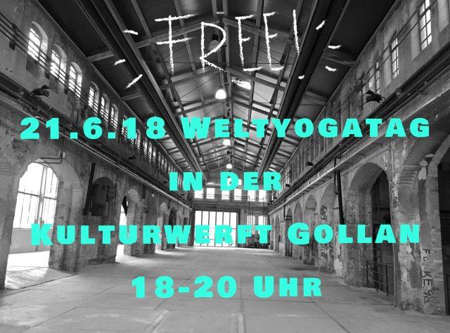 Welt Yogatag - 21 Juni Kulturwerft Gollan