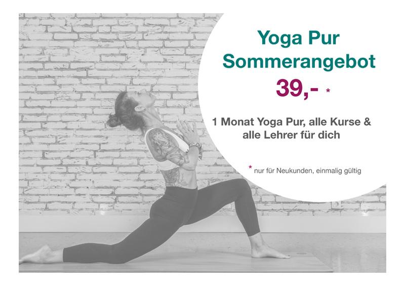Yoga Pur Frühlingsangebot - Dann könnte das hier genau das Richtige für Dich sein!