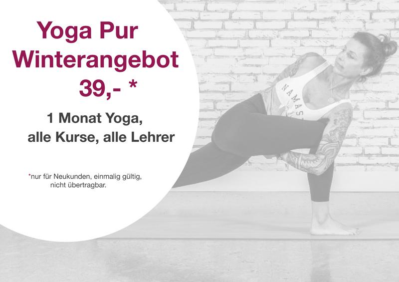 Yoga Pur Winterangebot - Dann könnte das hier genau das Richtige für Dich sein!