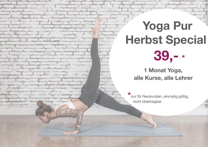 Herbst Special - 1 Monat Yoga, alle Kurse, alle Lehrer